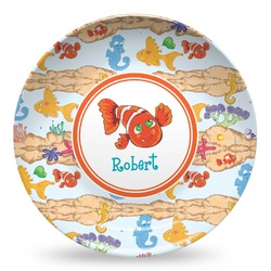 Under the Sea Microwave Safe Plastic Plate - Composite Polymer (Personalized)