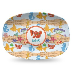 Under the Sea Plastic Platter - Microwave & Oven Safe Composite Polymer (Personalized)