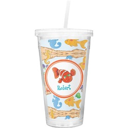 Under the Sea Double Wall Tumbler with Straw (Personalized)
