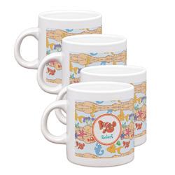 Under the Sea Espresso Mugs - Set of 4 (Personalized)