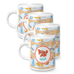 Under the Sea Espresso Mugs - Set of 4 (Personalized)