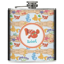 Under the Sea Genuine Leather Flask (Personalized)