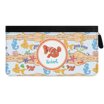 Under the Sea Genuine Leather Ladies Zippered Wallet (Personalized)