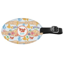 Under the Sea Genuine Leather Oval Luggage Tag (Personalized)