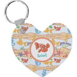 Under the Sea Heart Keychain (Personalized)
