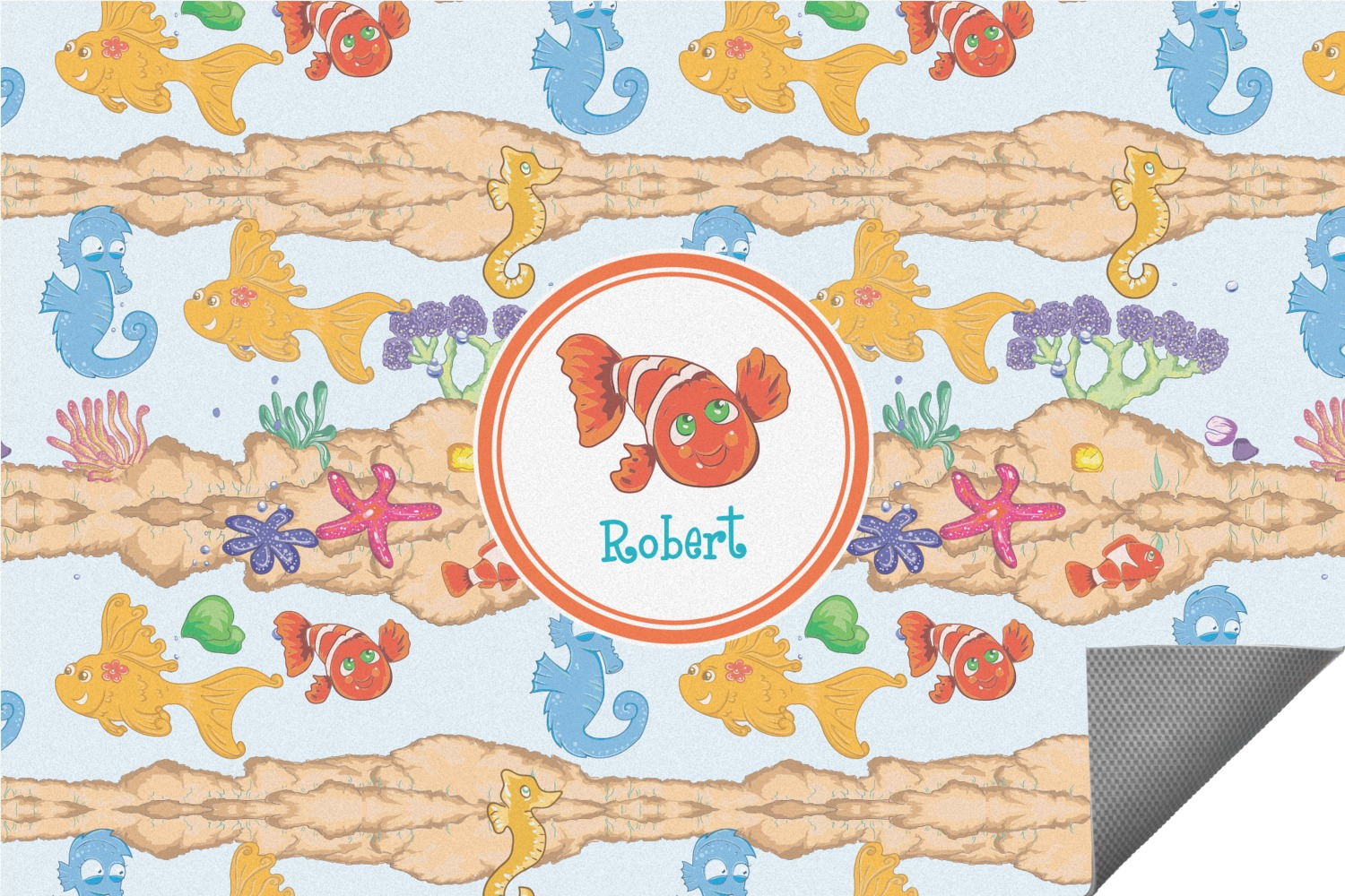 under the sea indoor outdoor rug 8 39 x10 39 personalized youcustomizeit. Black Bedroom Furniture Sets. Home Design Ideas