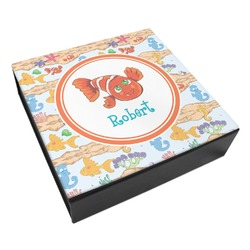 Under the Sea Leatherette Keepsake Box - 8x8 (Personalized)