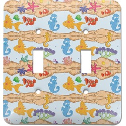 Under the Sea Light Switch Cover (2 Toggle Plate) (Personalized)