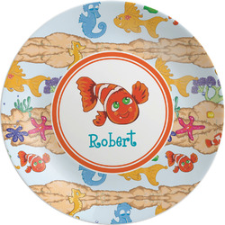 "Under the Sea 8"" Melamine Appetizer / Dessert Plate (Personalized)"