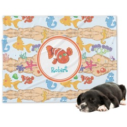 Under the Sea Minky Dog Blanket - Regular (Personalized)