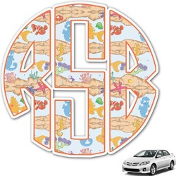 Under the Sea Monogram Car Decal (Personalized)