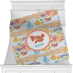 "Under the Sea Fleece Blanket - Twin / Full - 80""x60"" - Double Sided (Personalized)"