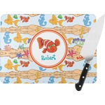 Under the Sea Rectangular Glass Cutting Board (Personalized)