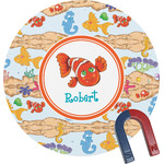 Under the Sea Round Magnet (Personalized)