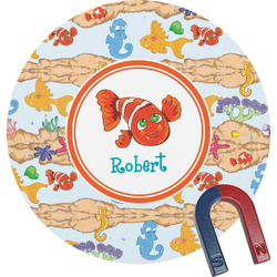Under the Sea Round Fridge Magnet (Personalized)