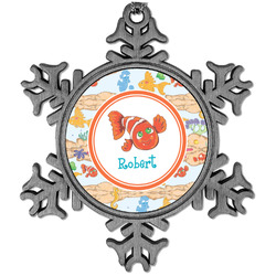 Under the Sea Vintage Snowflake Ornament (Personalized)