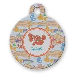 Under the Sea Round Pet Tag (Personalized)
