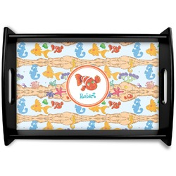 Under the Sea Black Wooden Tray (Personalized)