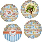 Under the Sea Set of 4 Lunch / Dinner Plates (Glass) (Personalized)