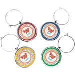 Under the Sea Wine Charms (Set of 4) (Personalized)