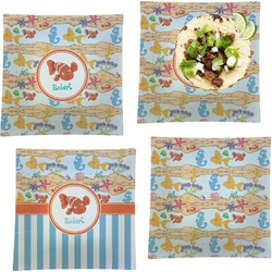 Under the Sea Set of 4 - Square Dinner Plates (Personalized)