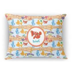 Under the Sea Rectangular Throw Pillow Case (Personalized)