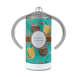 Coconut Drinks 12 oz Stainless Steel Sippy Cup (Personalized)