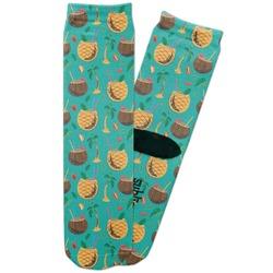 Coconut Drinks Adult Crew Socks (Personalized)