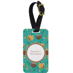 Coconut Drinks Aluminum Luggage Tag (Personalized)