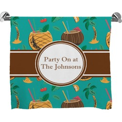 Coconut Drinks Full Print Bath Towel (Personalized)