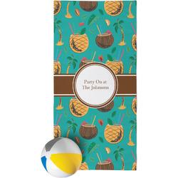 Coconut Drinks Beach Towel (Personalized)