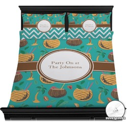 Coconut Drinks Duvet Cover Set (Personalized)