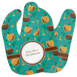 Coconut Drinks Baby Bib w/ Name or Text