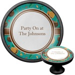 Coconut Drinks Cabinet Knob (Black) (Personalized)