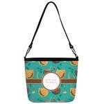 Coconut Drinks Bucket Bag w/ Genuine Leather Trim (Personalized)
