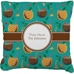 Coconut Drinks Burlap Pillow Case (Personalized)
