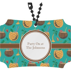 Coconut Drinks Rear View Mirror Ornament (Personalized)
