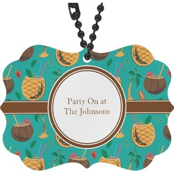 Coconut Drinks Rear View Mirror Decor (Personalized)