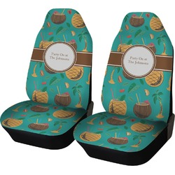 Coconut Drinks Car Seat Covers (Set of Two) (Personalized)