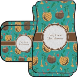 Coconut Drinks Car Floor Mats Set - 2 Front & 2 Back (Personalized)