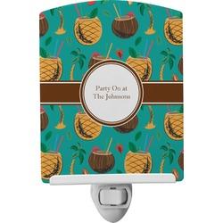Coconut Drinks Ceramic Night Light (Personalized)