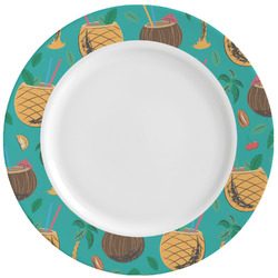 Coconut Drinks Ceramic Dinner Plates (Set of 4) (Personalized)