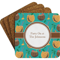 Coconut Drinks Coaster Set (Personalized)