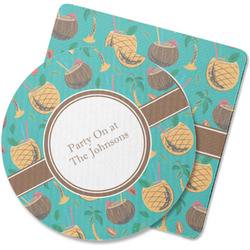 Coconut Drinks Rubber Backed Coaster (Personalized)