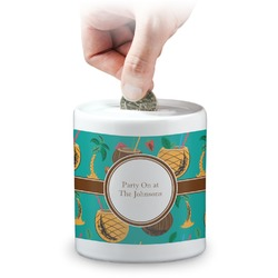 Coconut Drinks Coin Bank (Personalized)