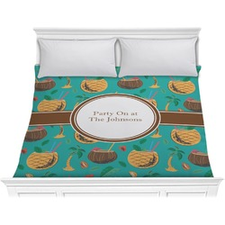 Coconut Drinks Comforter - King (Personalized)