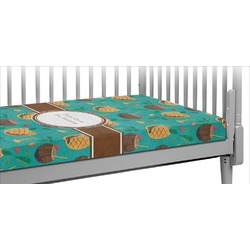 Coconut Drinks Crib Fitted Sheet (Personalized)