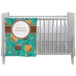 Coconut Drinks Crib Comforter / Quilt (Personalized)