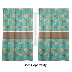 """Coconut Drinks Curtains - 40""""x54"""" Panels - Unlined (2 Panels Per Set) (Personalized)"""