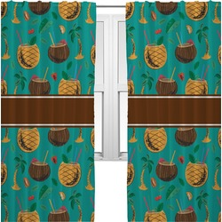 Coconut Drinks Curtains (2 Panels Per Set) (Personalized)